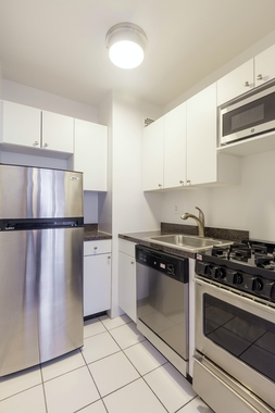 a kitchen with stainless steel appliances