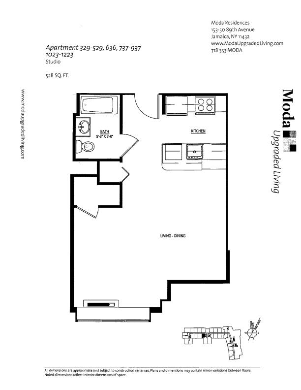 Floor plan for 1223