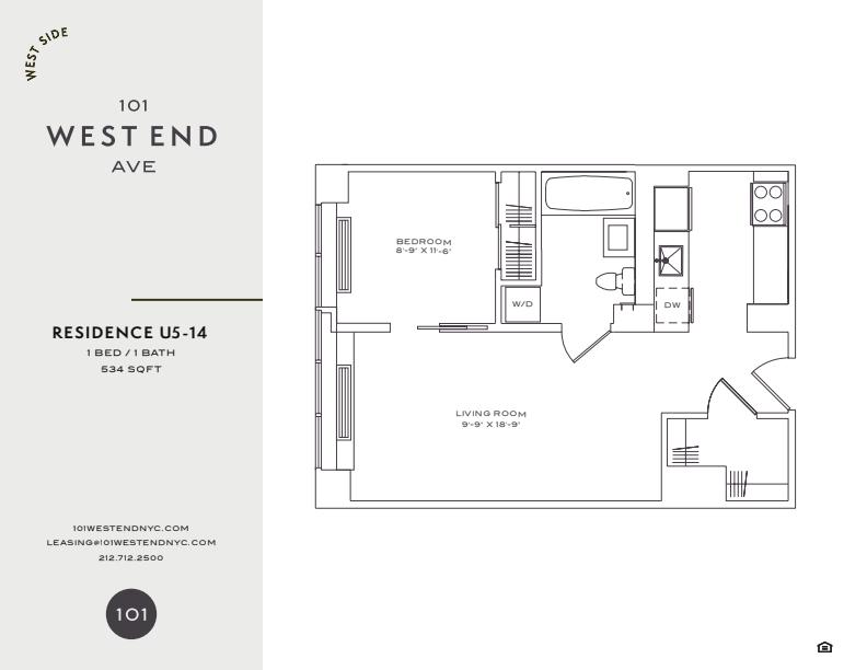 Floor plan for 9U