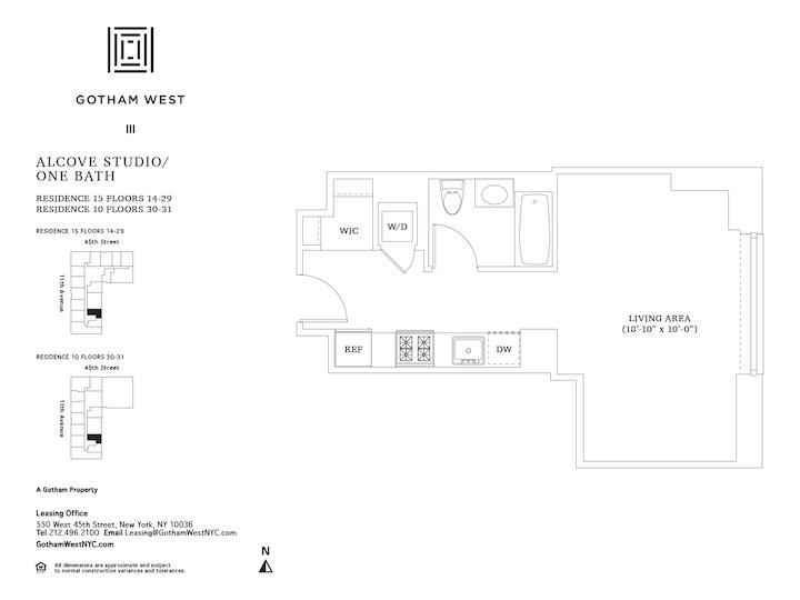 Gotham West #PH110 Floorplan