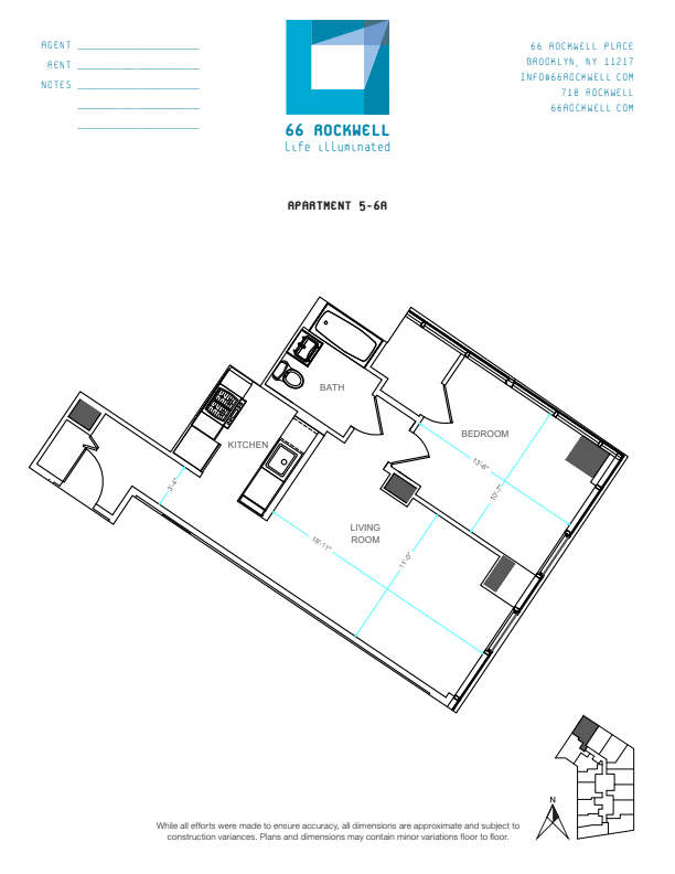 Floor plan for 6A