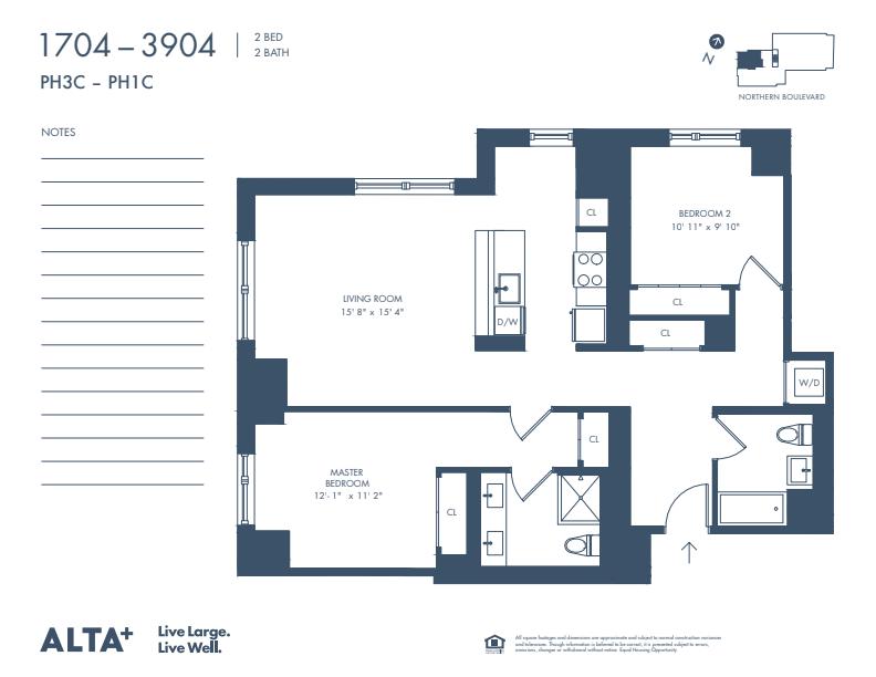 Floorplan of Unit PH3C