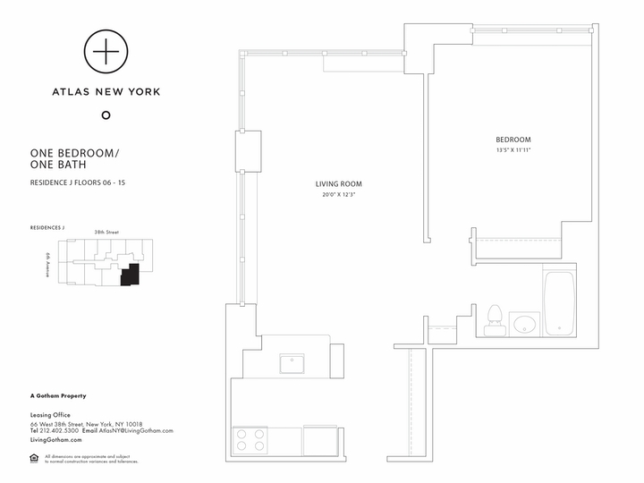 Atlas New York #6J Floorplan