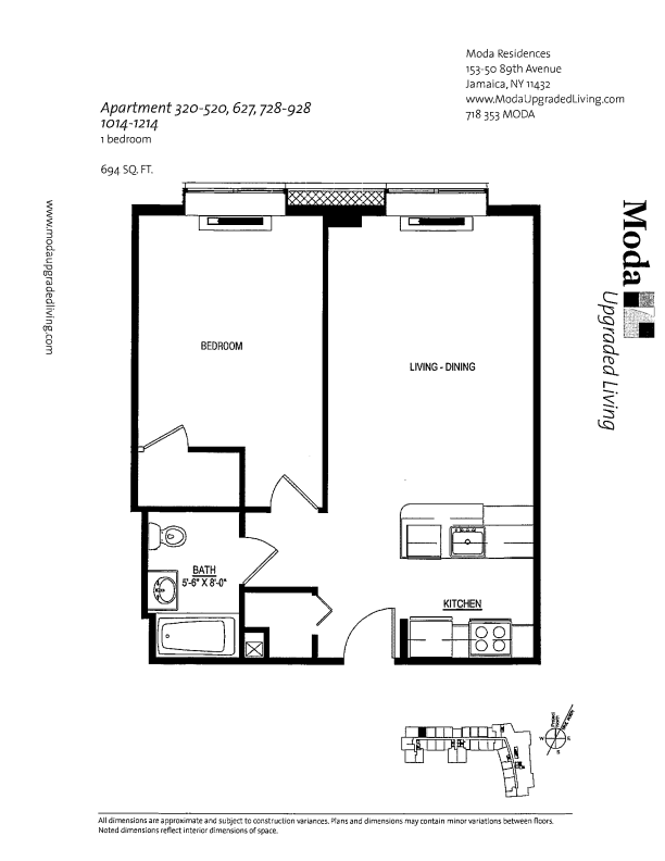 Floor plan for 1214