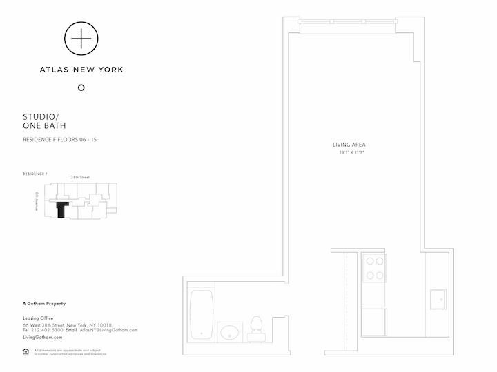 Atlas New York #10F Floorplan