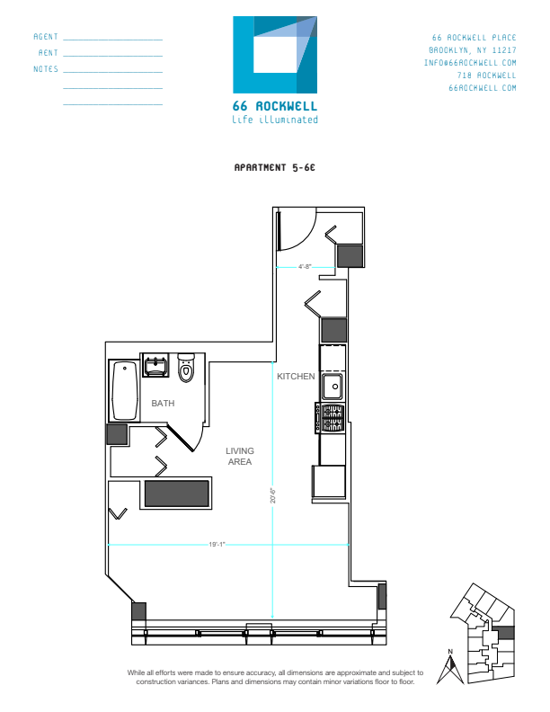 Floor plan for 6E