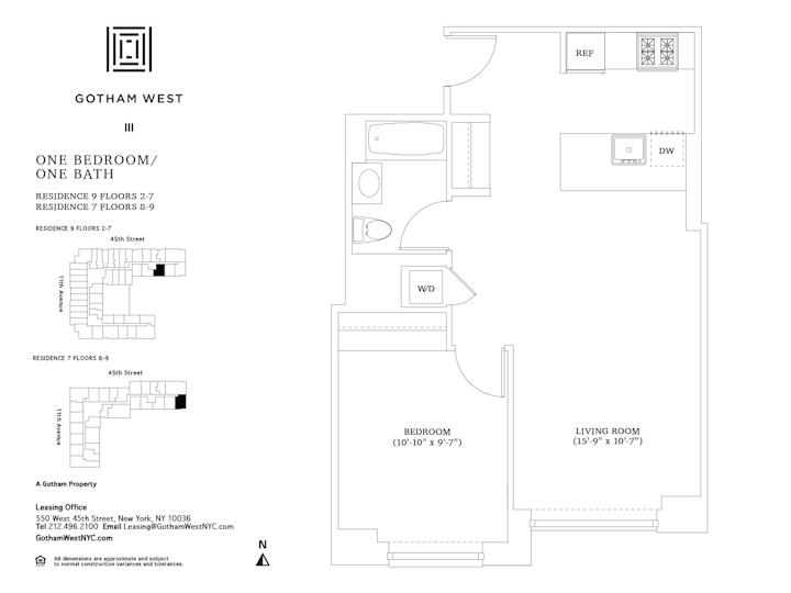 Gotham West #209 Floorplan