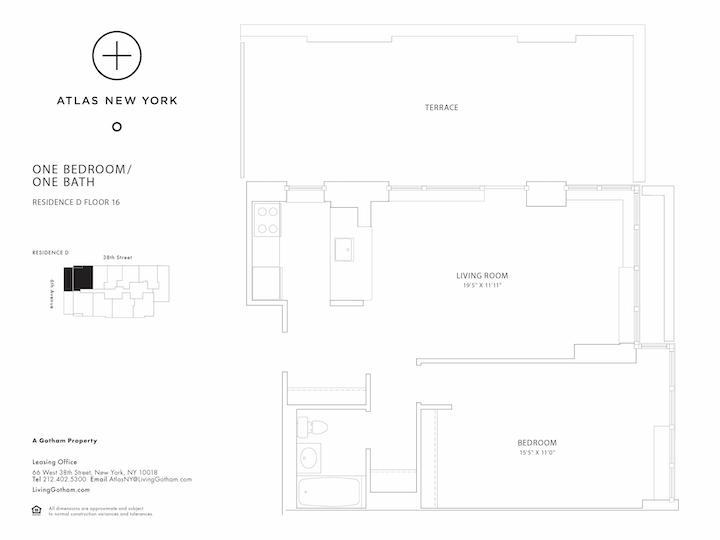 Atlas New York #16D Floorplan