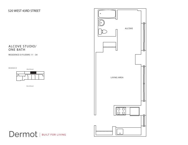 Floor plan for 17D
