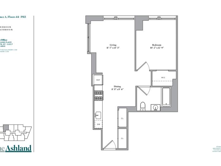 The Ashland #PH3A Floorplan