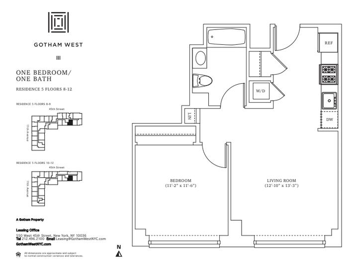 Gotham West #1005 Floorplan