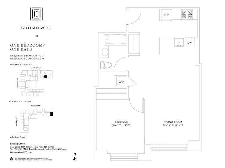 Gotham West #907 Floorplan