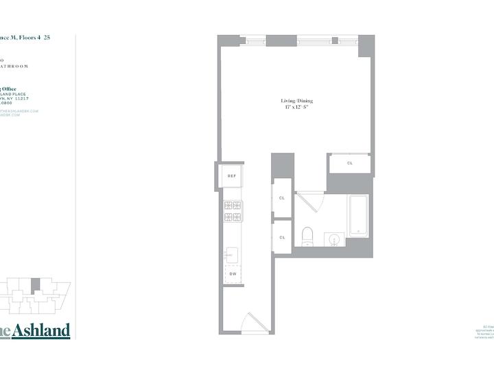 The Ashland #17M Floorplan
