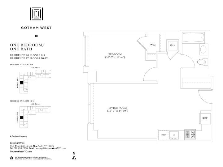 Gotham West #1117 Floorplan