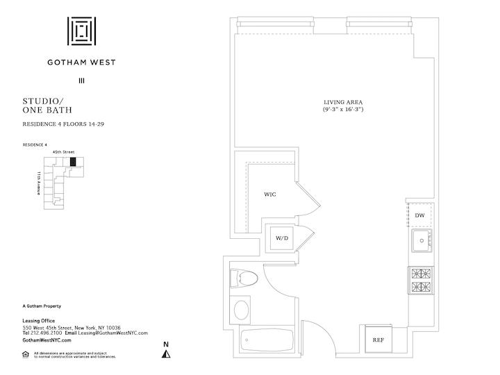 Gotham West #2404 Floorplan