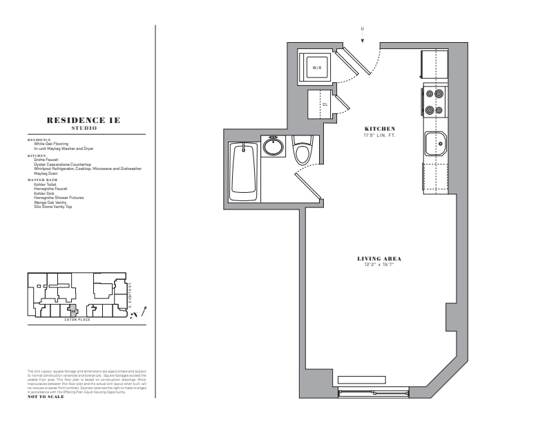 Floor plan for 1E