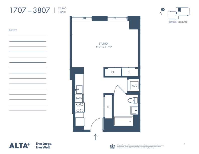 Floorplan of Unit #2907