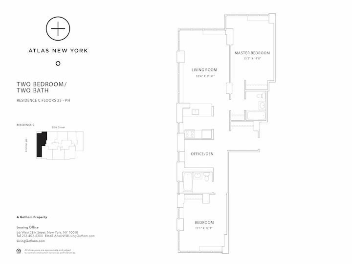 Atlas New York #40C Floorplan