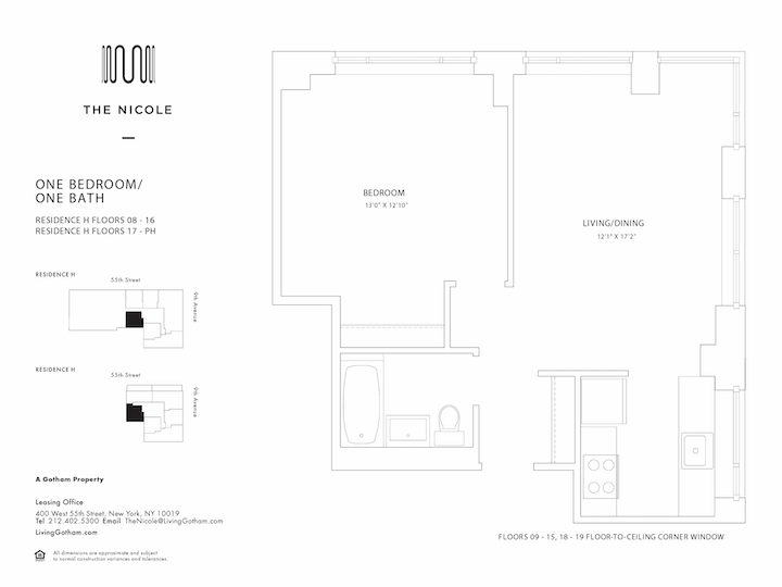 The Nicole #17H Floorplan