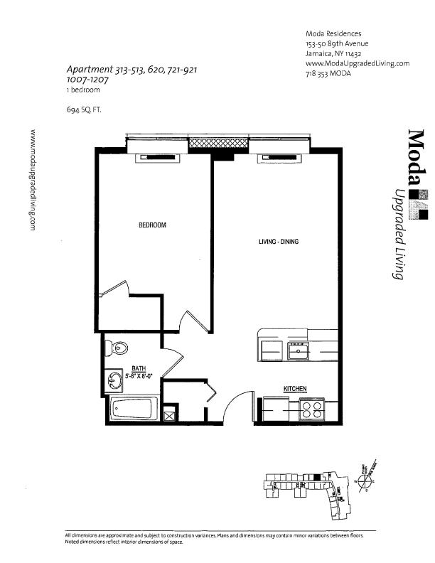 Floor plan for 325