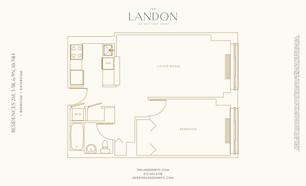 Floor plan for 16H