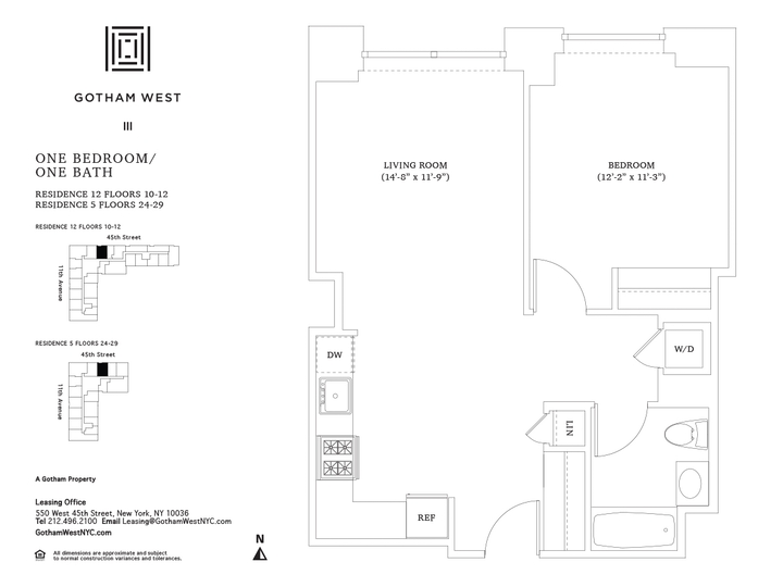 Gotham West #1212 Floorplan