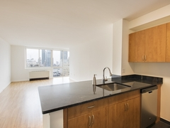 Thumbnail of Atlas New York: 16D a kitchen with stainless steel appliances and wooden cabinets
