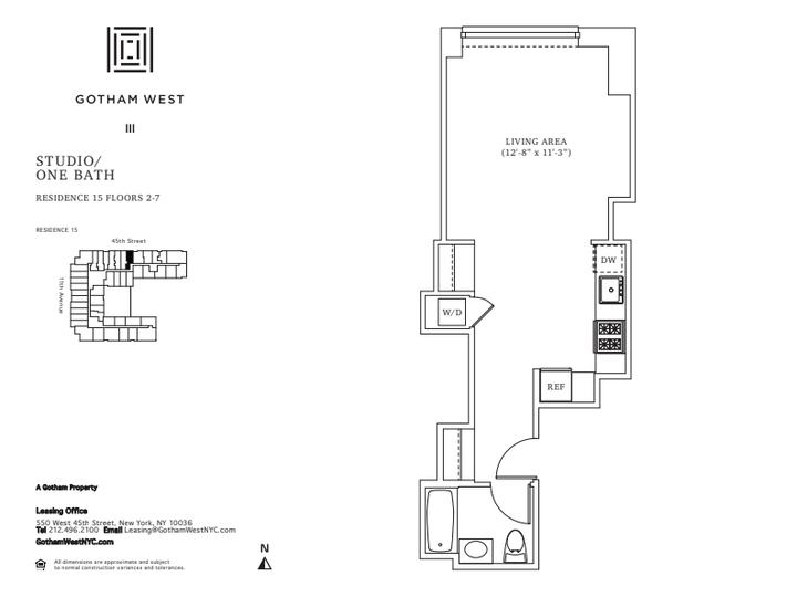 Gotham West #215 Floorplan