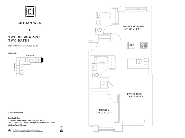 Gotham West #1107 Floorplan