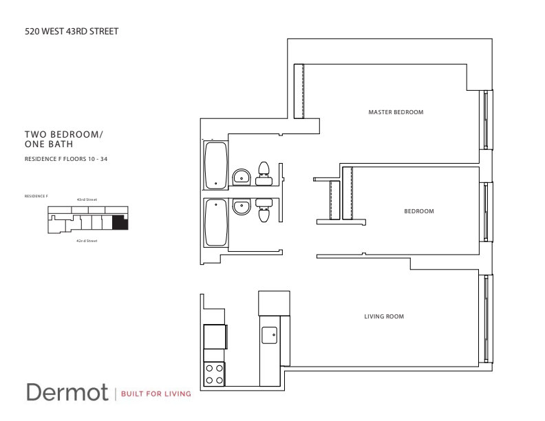Floor plan for 34F