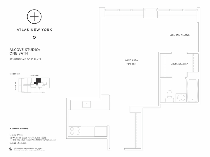 Atlas New York #17A Floorplan