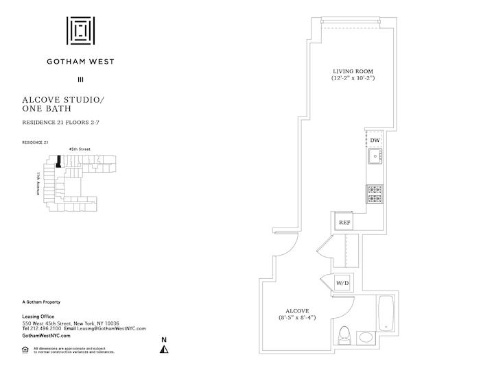 Gotham West #421 Floorplan