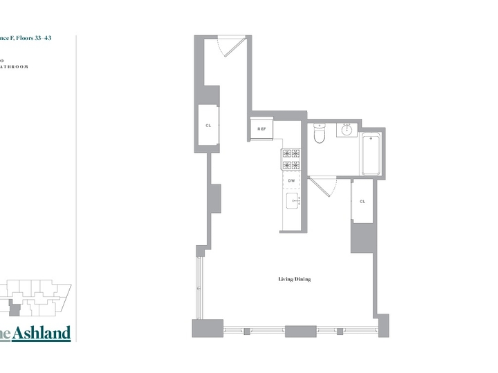The Ashland #34F Floorplan