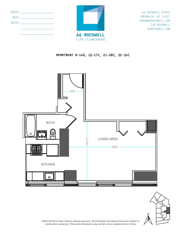 Floor plan for 12D