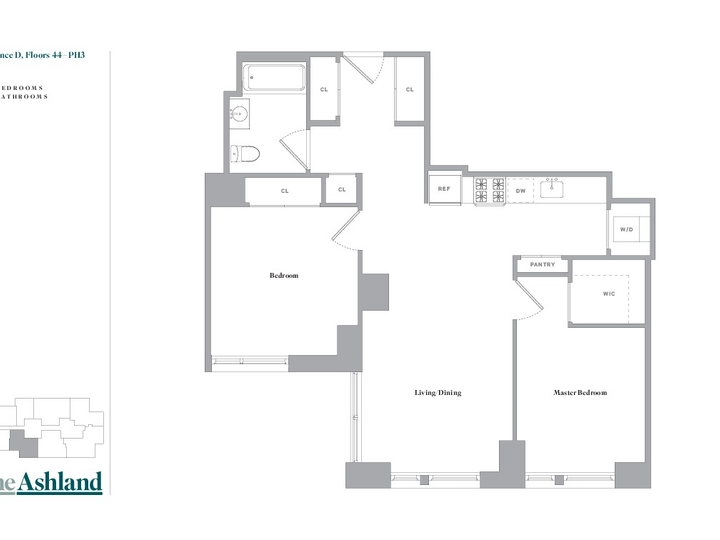 The Ashland #44D Floorplan