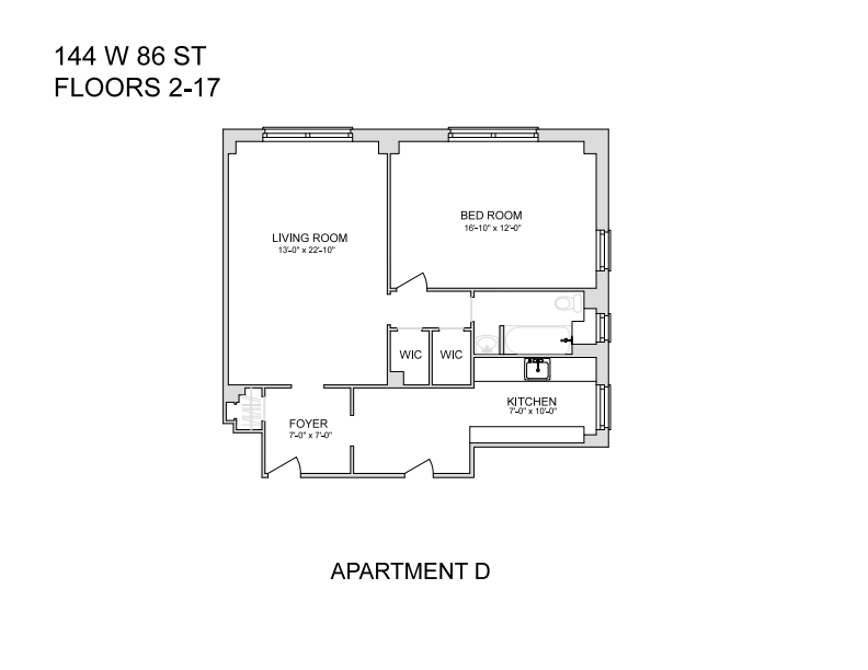 144 West 86th Street 8-D Upper West Side New York NY 10024