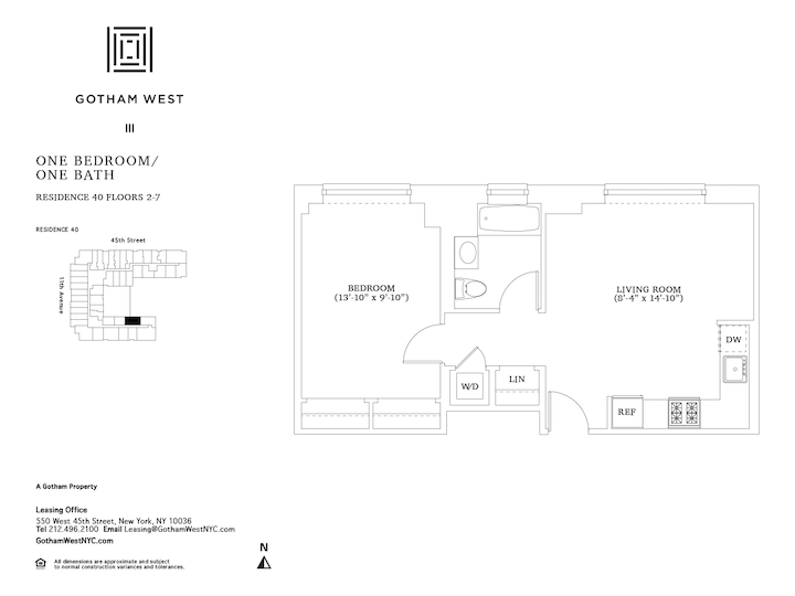 Gotham West #740 Floorplan