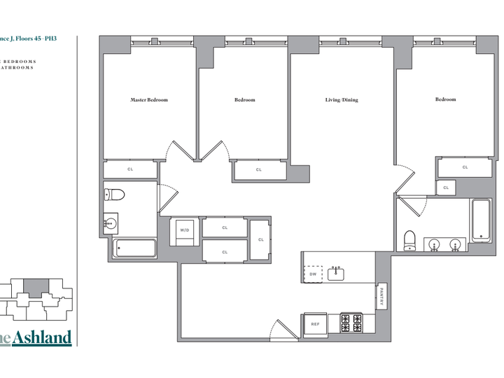 The Ashland #PH2J Floorplan