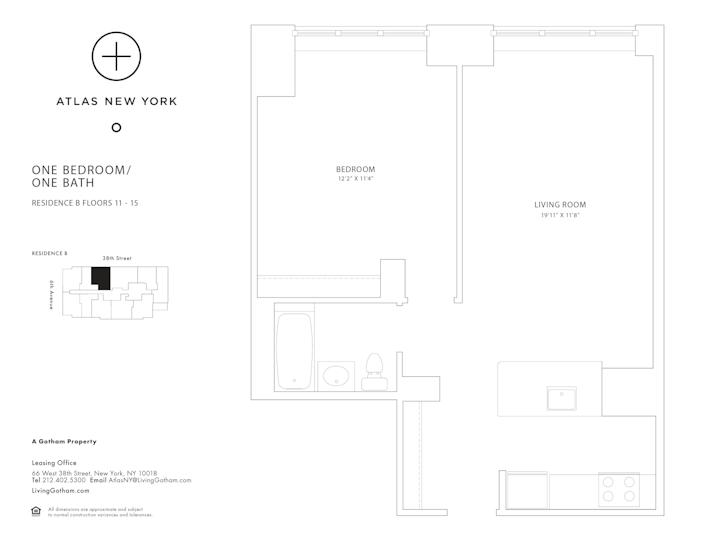 Atlas New York #11B Floorplan