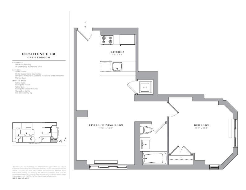 Floor plan for 1M