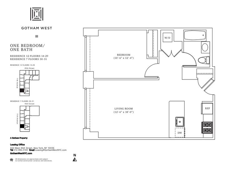 Gotham West #2212 Floorplan