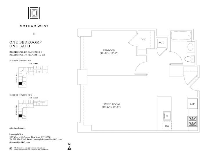Gotham West #1119 Floorplan