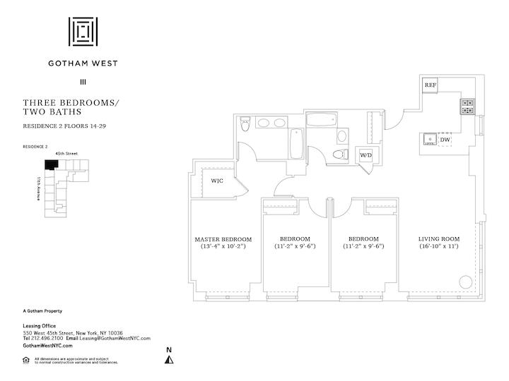 Gotham West #2502 Floorplan