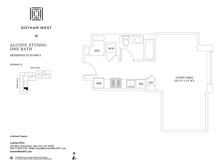 Gotham West #825 Floorplan