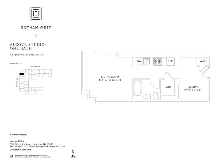 Gotham West #423 Floorplan