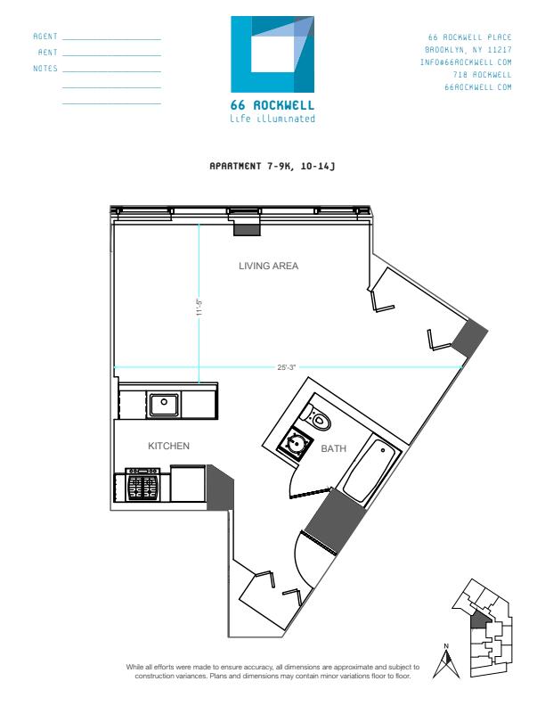 Floor plan for 10J
