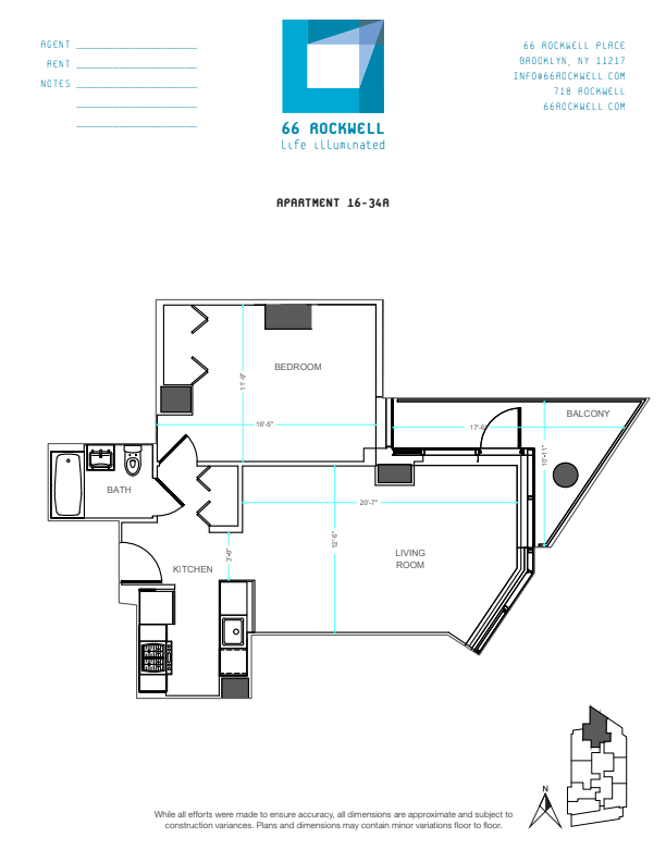 Floor plan for 22A