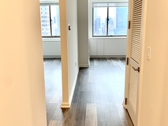 a view of an open door