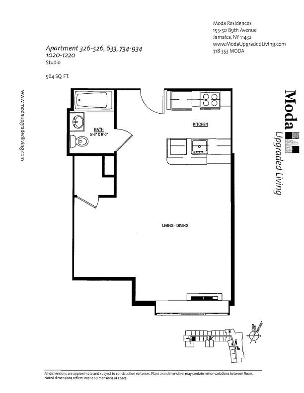 Floor plan for 526