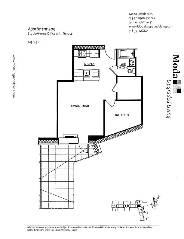 Floor plan for 205